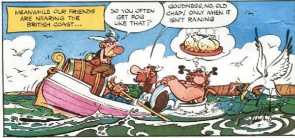 Komiksas  Asterix in Britain